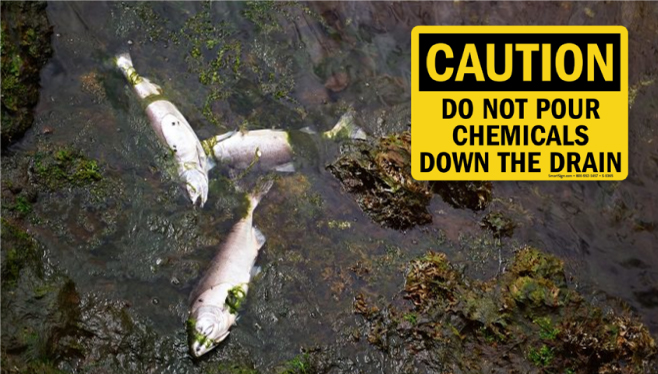 CAUTION: Do Not Pour Chemicals Down the Drain